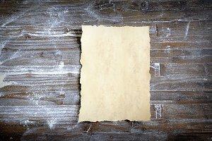 Parchment in kitchen.