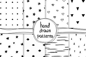 8 Hand Drawn Patterns