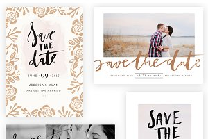 Brushed Save the Date 5x7 WHCC Cards