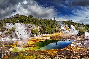 Orakei Korako geotermal valley