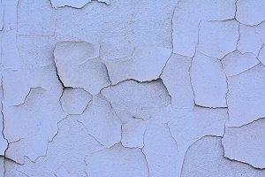 Cracked stucco.
