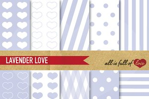 Lavender Valentines Day Papers