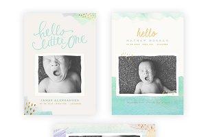 Pastel Baby vol 2 5x7 Birth Cards
