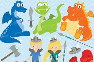 Dragon viking clipart commercial use