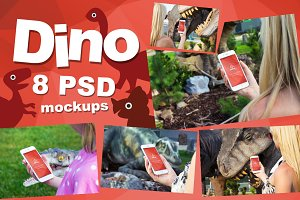 8 PSD iPhone 6 Mockups Dino