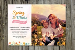 Spring Mini Session Template-V223