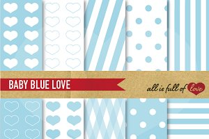 Serenity Blue Background Papers
