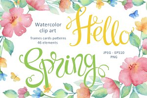 Hello Spring. Watercolor.