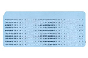 Blank Punched Card