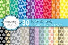polka dot digital paper, commercial