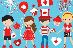 Canada day clipart commercial use