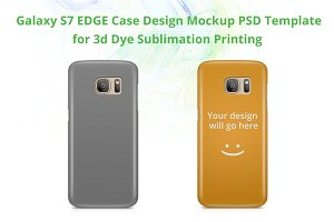 Galaxy S7 Edge 3d IMD Case Mock-up