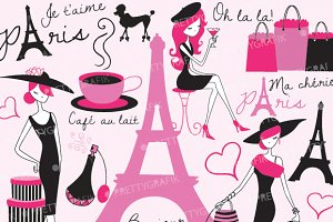 paris fashion clipart