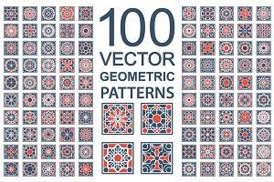 100 Vector Ornamental Patterns