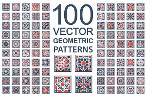 100 Vector Ornamental Patterns