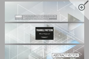 Abstract blurred vector banners