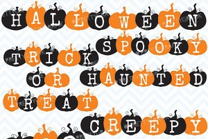 pumpkin halloween words clipart