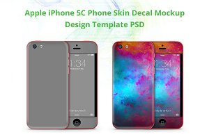 iPhone 5C Phone Skin Mock-up