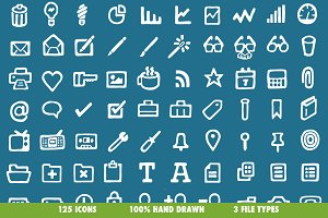 Drawn Icons (Fill) - 125 Vectors