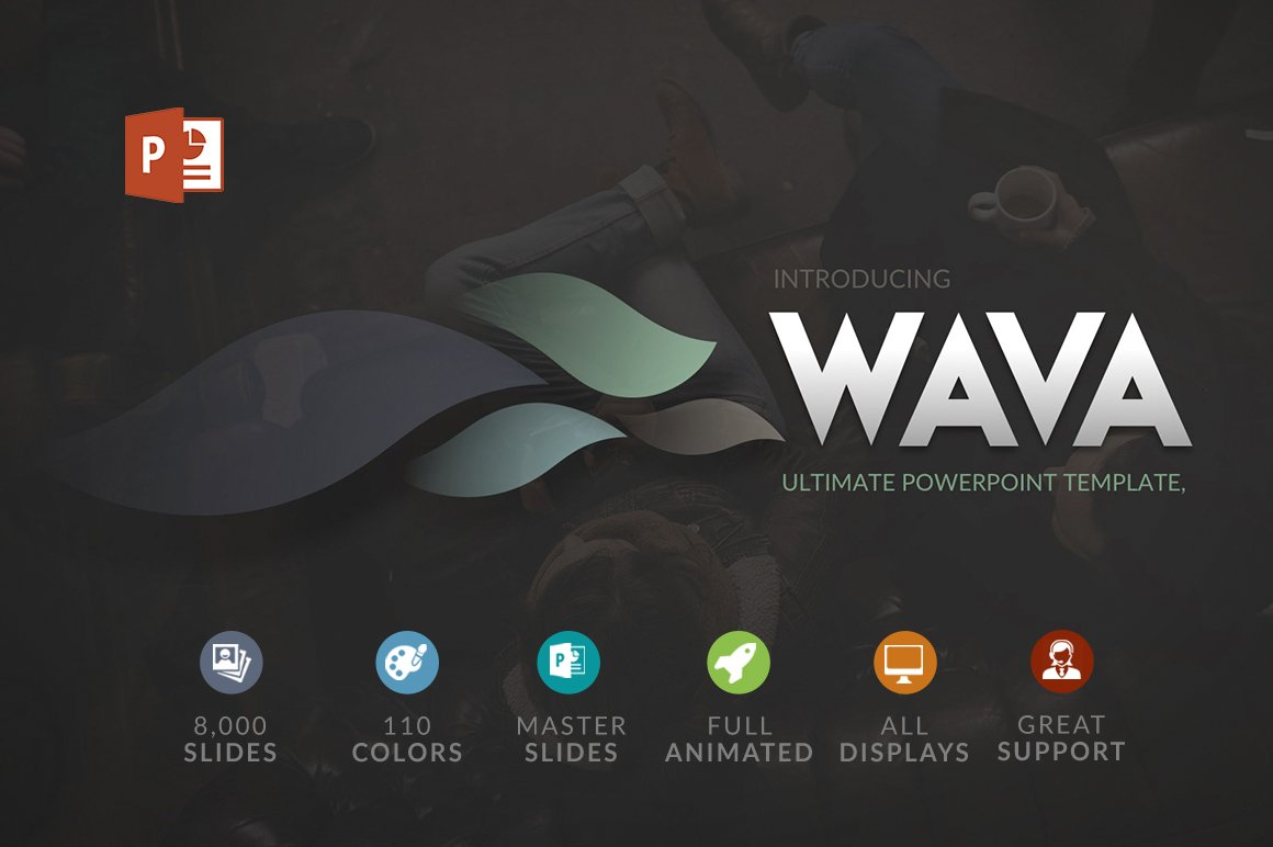 Wava | Powerpoint template ~ Presentation Templates ~ Creative Market