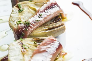 Artichokes with anchovies