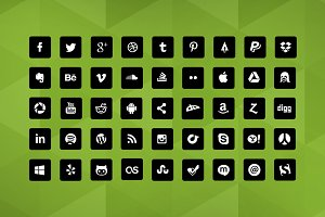 90 Squared Social Icons