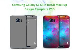 Samsung Galaxy S6 Skin Mock-up
