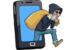 Thief of smartphone