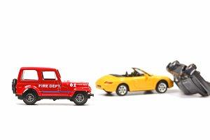 Fire department at car crash