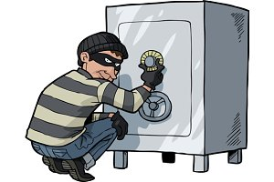 Thief breaks into a safe