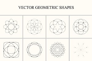 Vector geometric shapes.