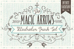 Magic Arrow Brushes (Illustrator)