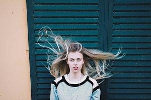 wind female portrait