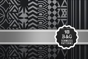 Black & Grey seamless patterns
