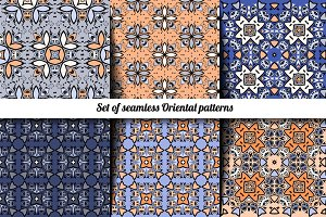 Seamless Oriental patterns