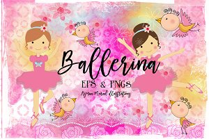 Ballerina illustration // 50%off