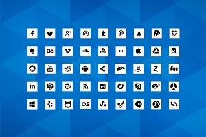 Social Media Icons 90 Social Icons