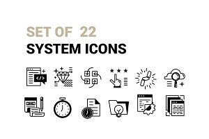 Set of 22 System Icons.