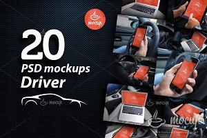 20 PSD Mega Mockup set Driver