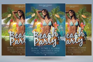 Palm Beach Party Flyer