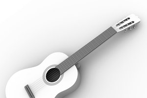 Spanish guitar in white