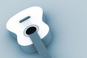 Classic guitar in blue