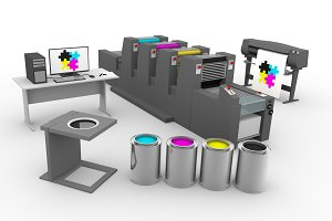 CMYK print production process