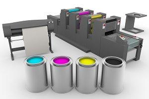 CMYK print machinery