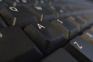 Keys on black keyboard
