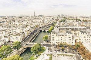 Picturesque view on Paris