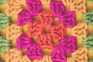 Bright Modern Crochet Background