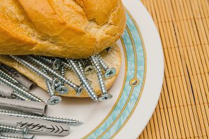 bread with nails and dowels