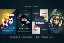 Crowded Noise Club - 4 Flyers