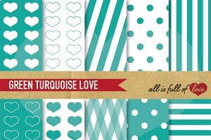 Turquoise Illustrations Papers